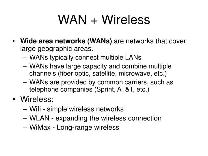 Wan wireless