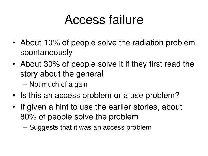 Access failure