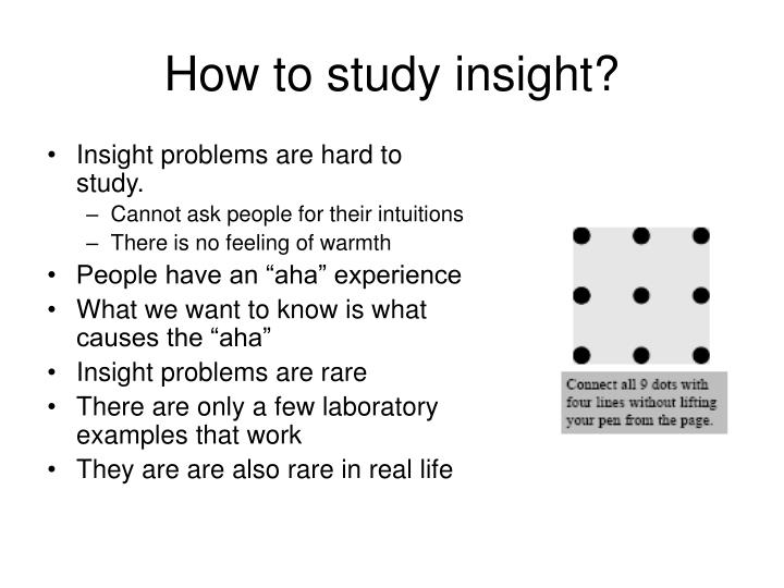 How to study insight?