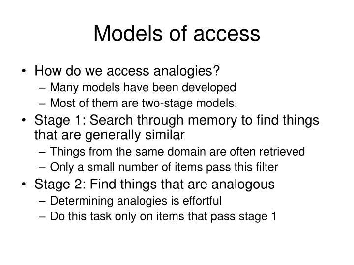 Models of access