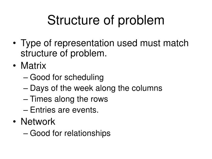 Structure of problem