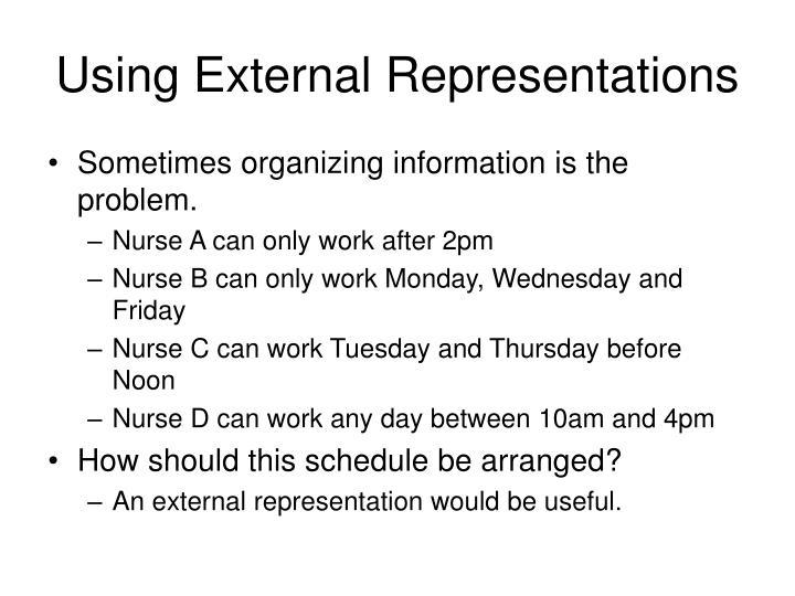 Using External Representations