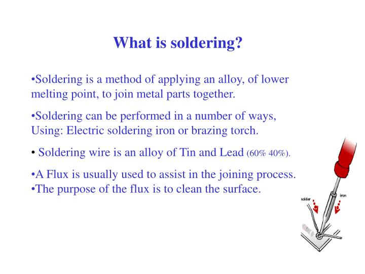 What is soldering?