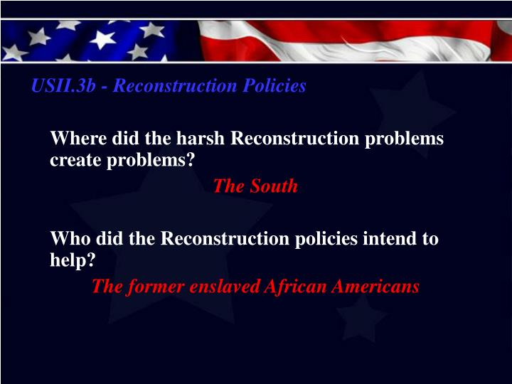 USII.3b - Reconstruction Policies