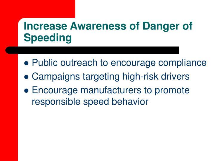 Increase Awareness of Danger of Speeding