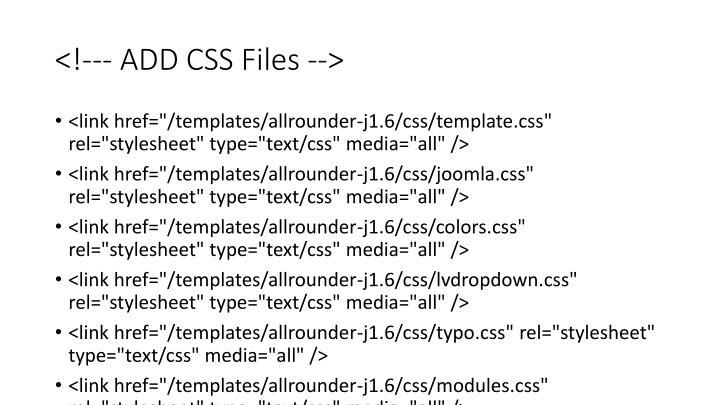 <!--- ADD CSS Files -->