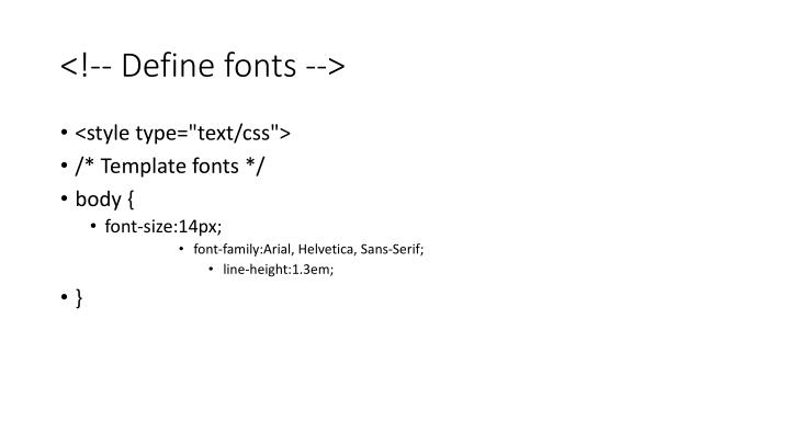 <!-- Define fonts -->