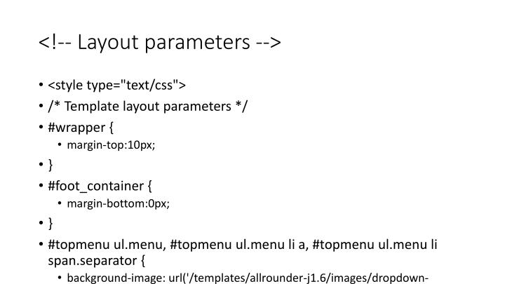 <!-- Layout parameters -->