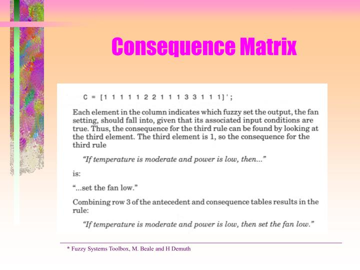 Consequence Matrix