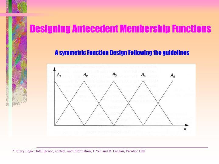 Designing Antecedent Membership Functions