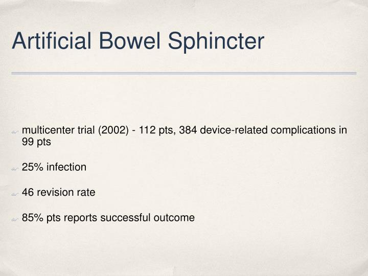 Artificial Bowel Sphincter