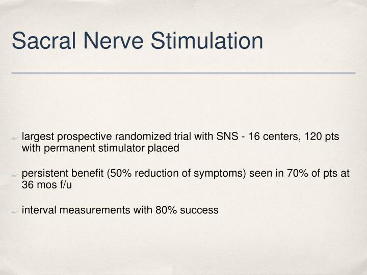 Sacral Nerve Stimulation