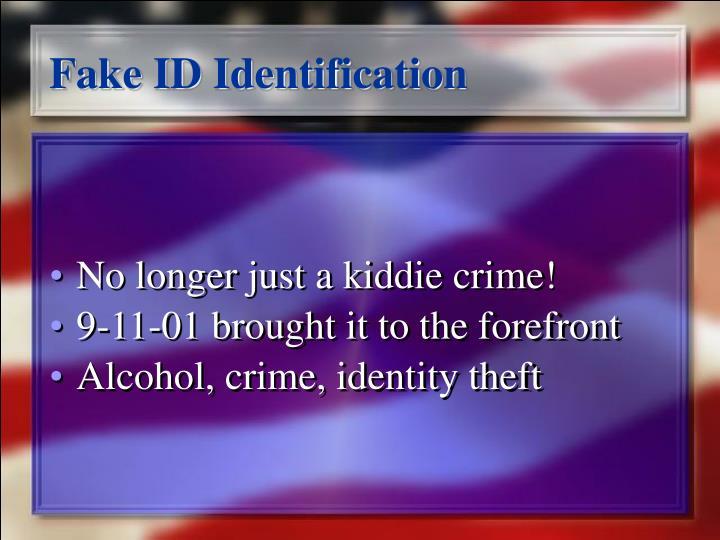 Fake ID Identification