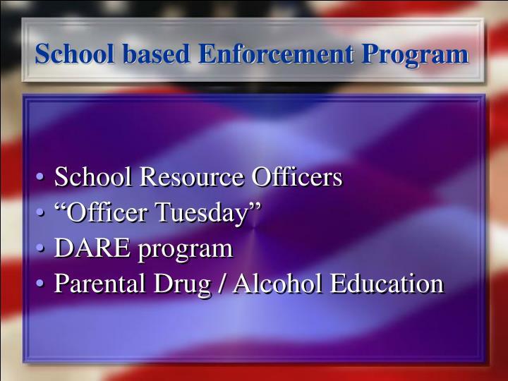 School based Enforcement Program