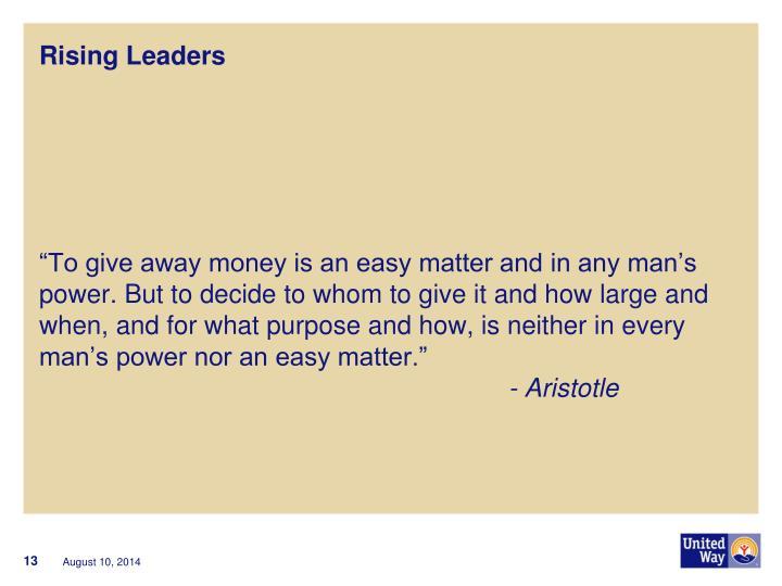 Rising Leaders