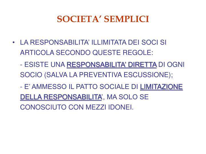 SOCIETA' SEMPLICI