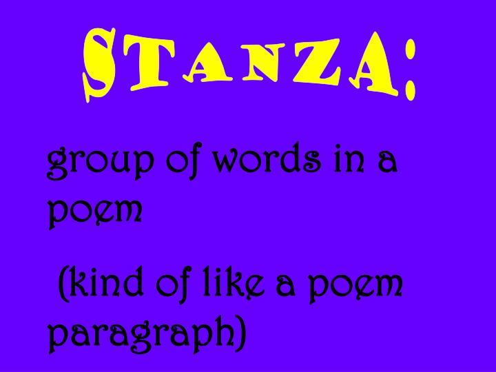 STANZA: