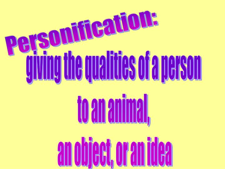 Personification: