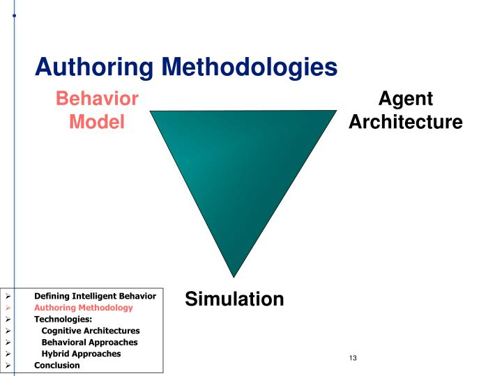 Authoring Methodologies