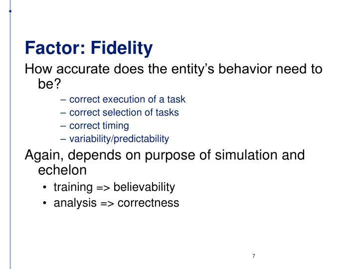 Factor: Fidelity