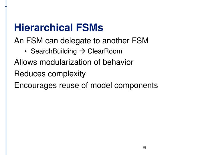 Hierarchical FSMs