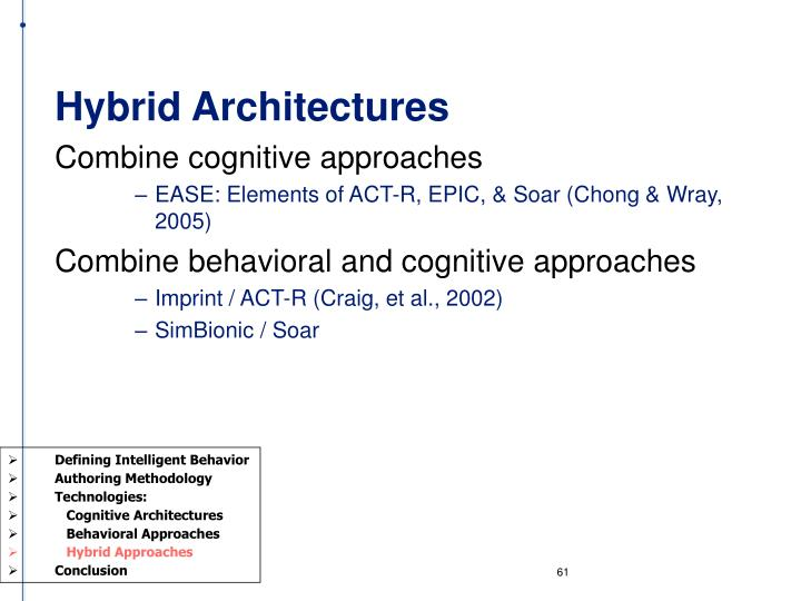Hybrid Architectures