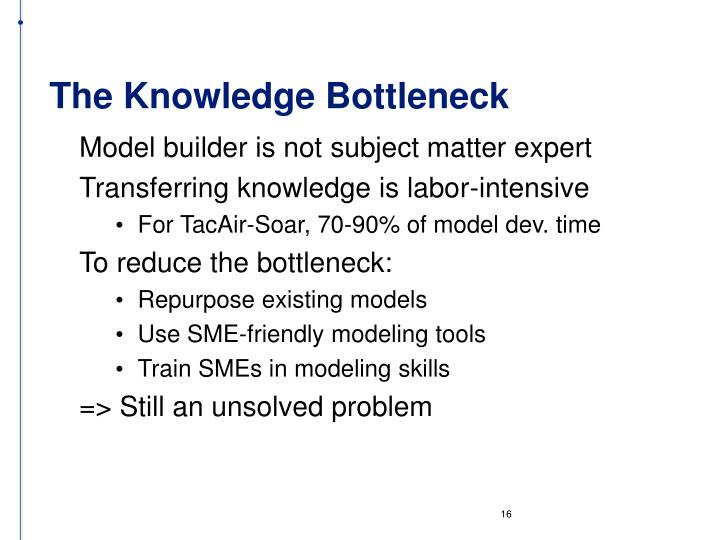 The Knowledge Bottleneck