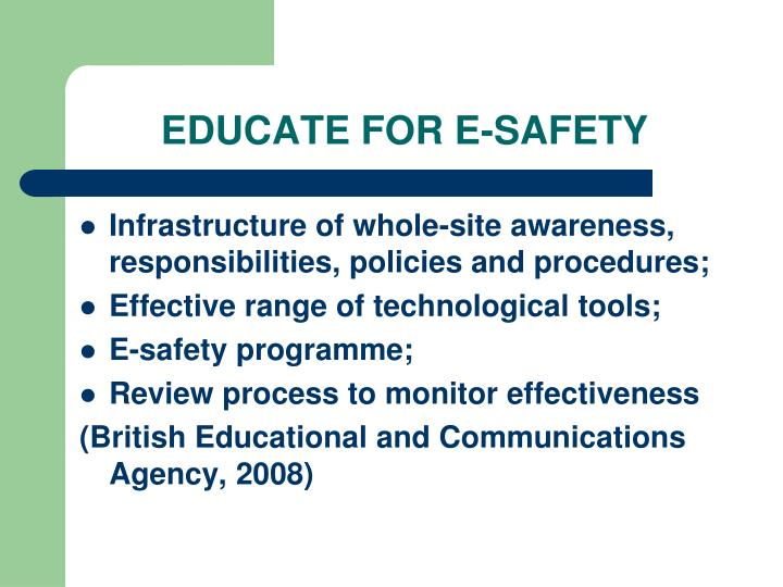 EDUCATE FOR E-SAFETY