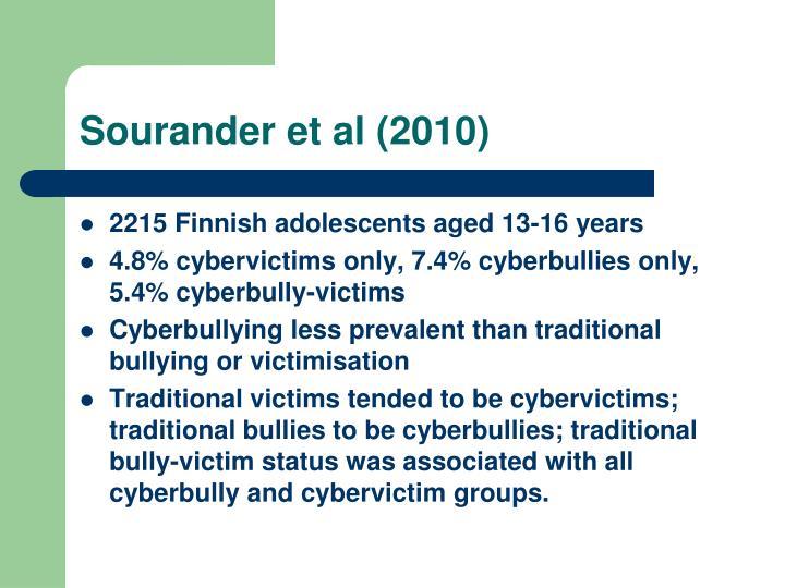 Sourander et al (2010)