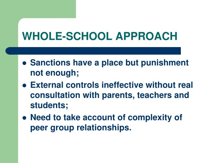 WHOLE-SCHOOL APPROACH