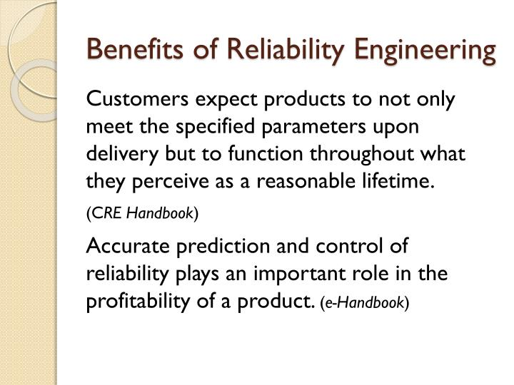 Benefits of Reliability Engineering