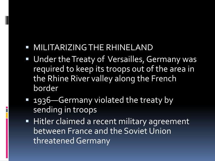 MILITARIZING THE RHINELAND