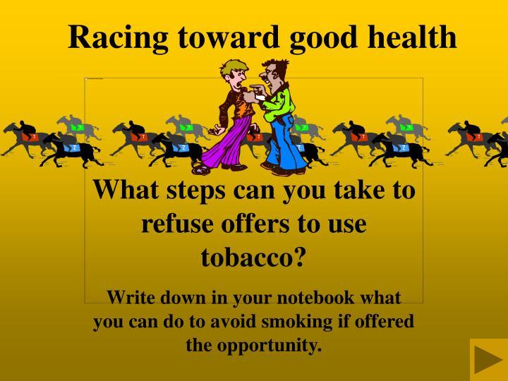 Racing toward good health