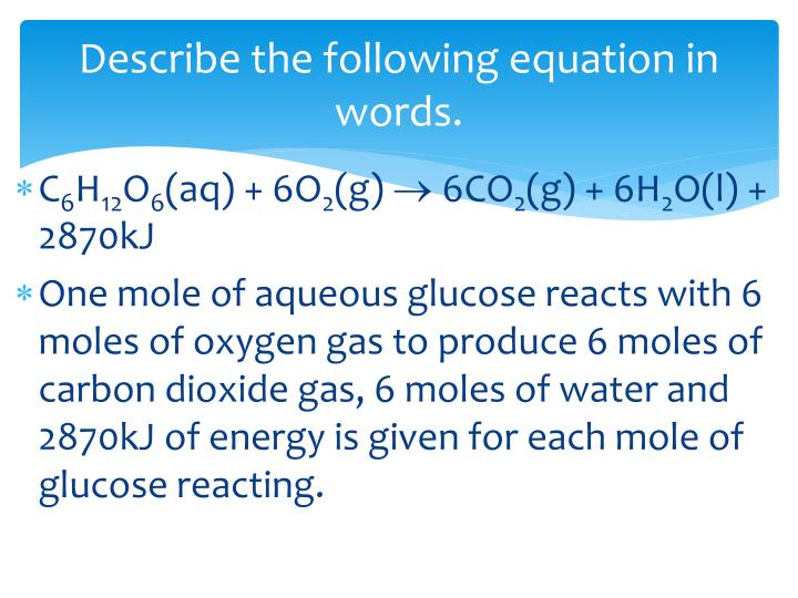 Describe the following equation in words.
