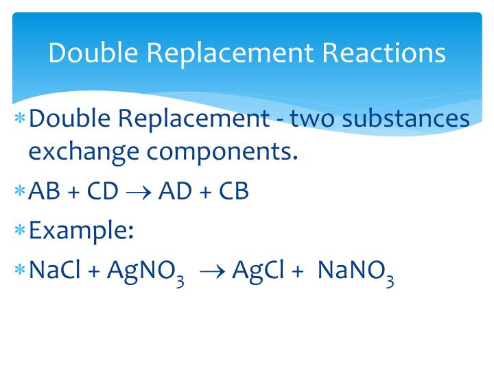 Double Replacement Reactions