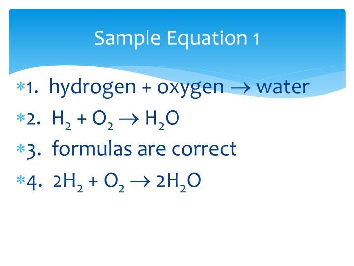 Sample Equation 1