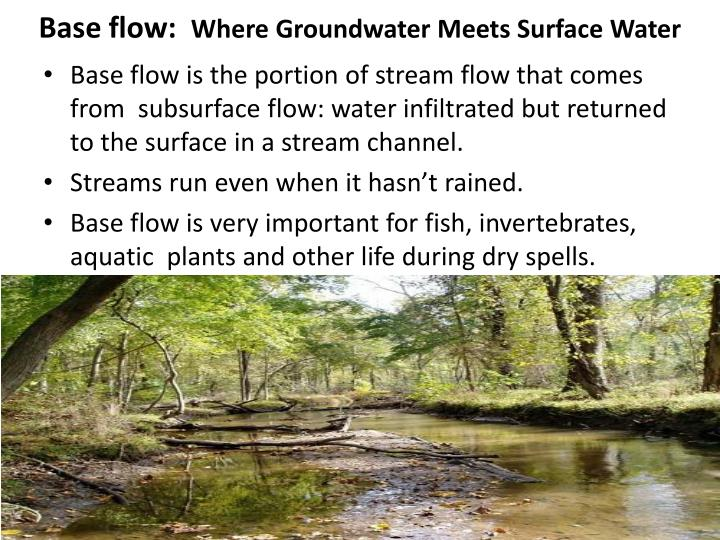Base flow: