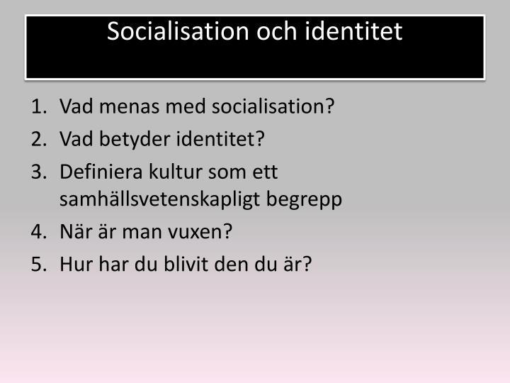 Socialisation och identitet
