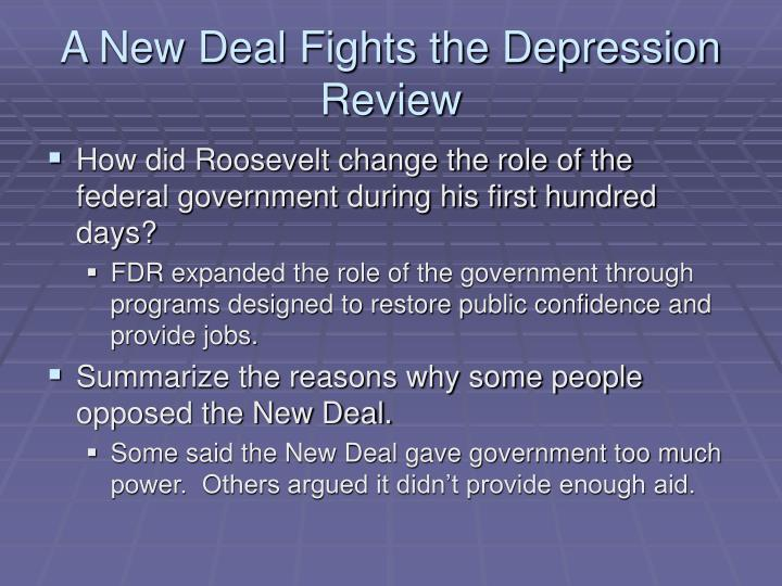A New Deal Fights the Depression