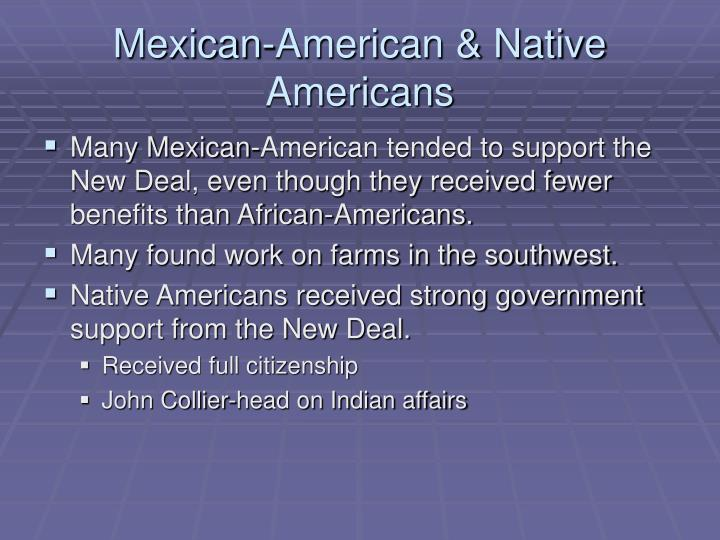 Mexican-American & Native Americans