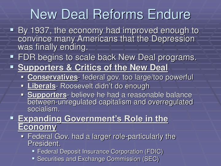 New Deal Reforms Endure