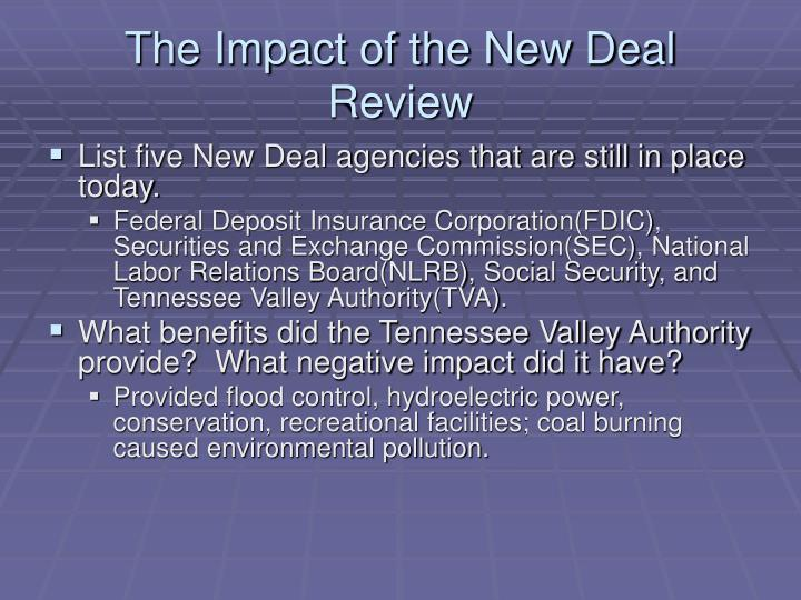 The Impact of the New Deal