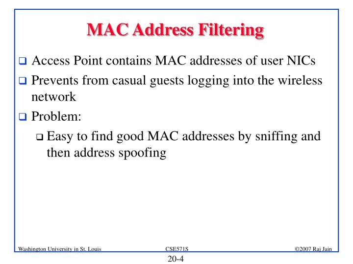 MAC Address Filtering