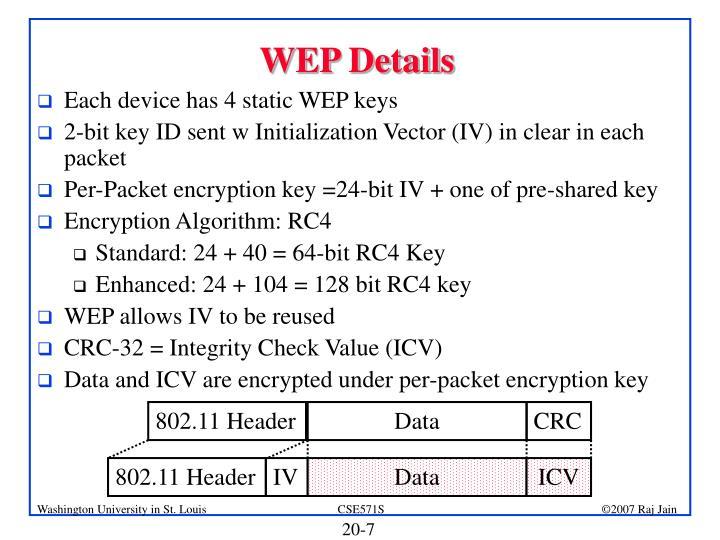 WEP Details