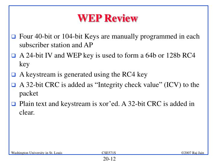 WEP Review