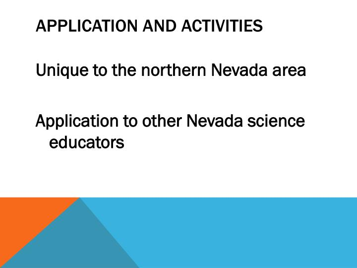 Application and activities