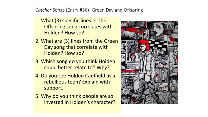 Catcher songs entry 56 green day and offspring