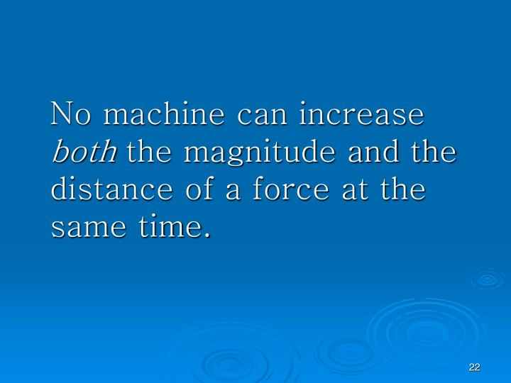 No machine can increase