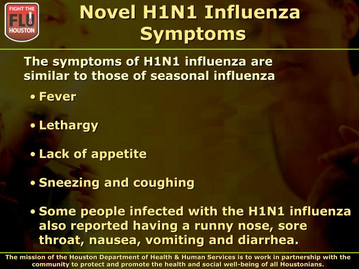 Novel h1n1 influenza symptoms