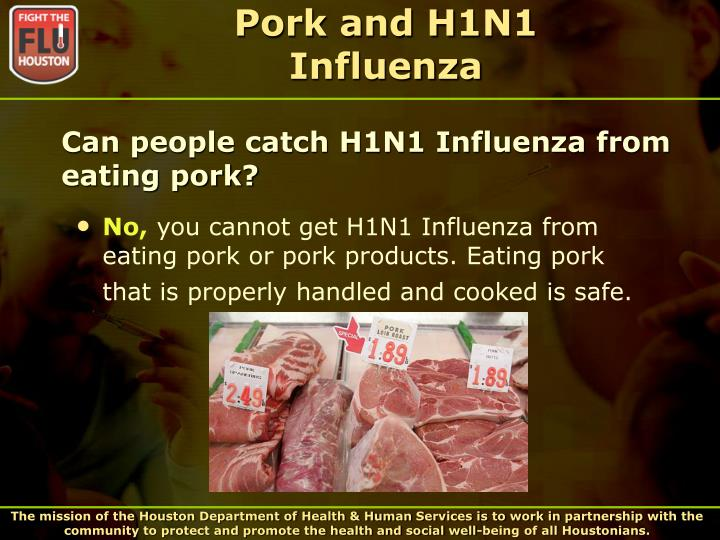 Pork and H1N1 Influenza